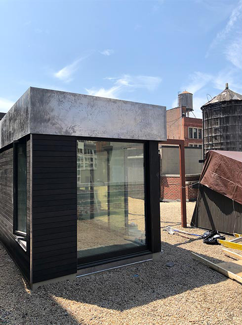 Rooftop terrace taking shape at the Flatiron Loft