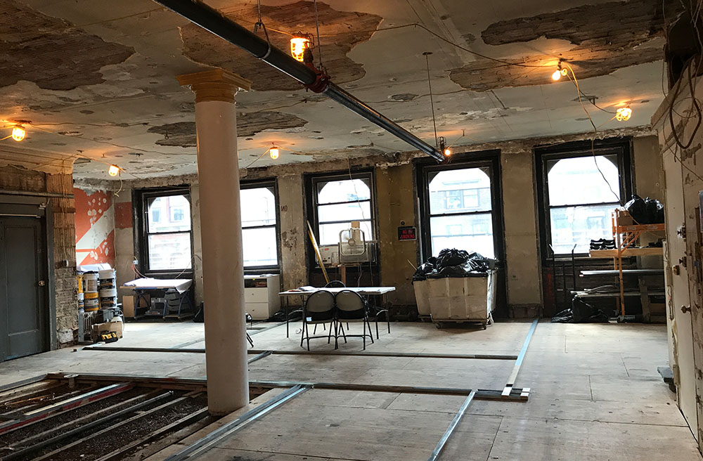 Flatiron Loft under construction