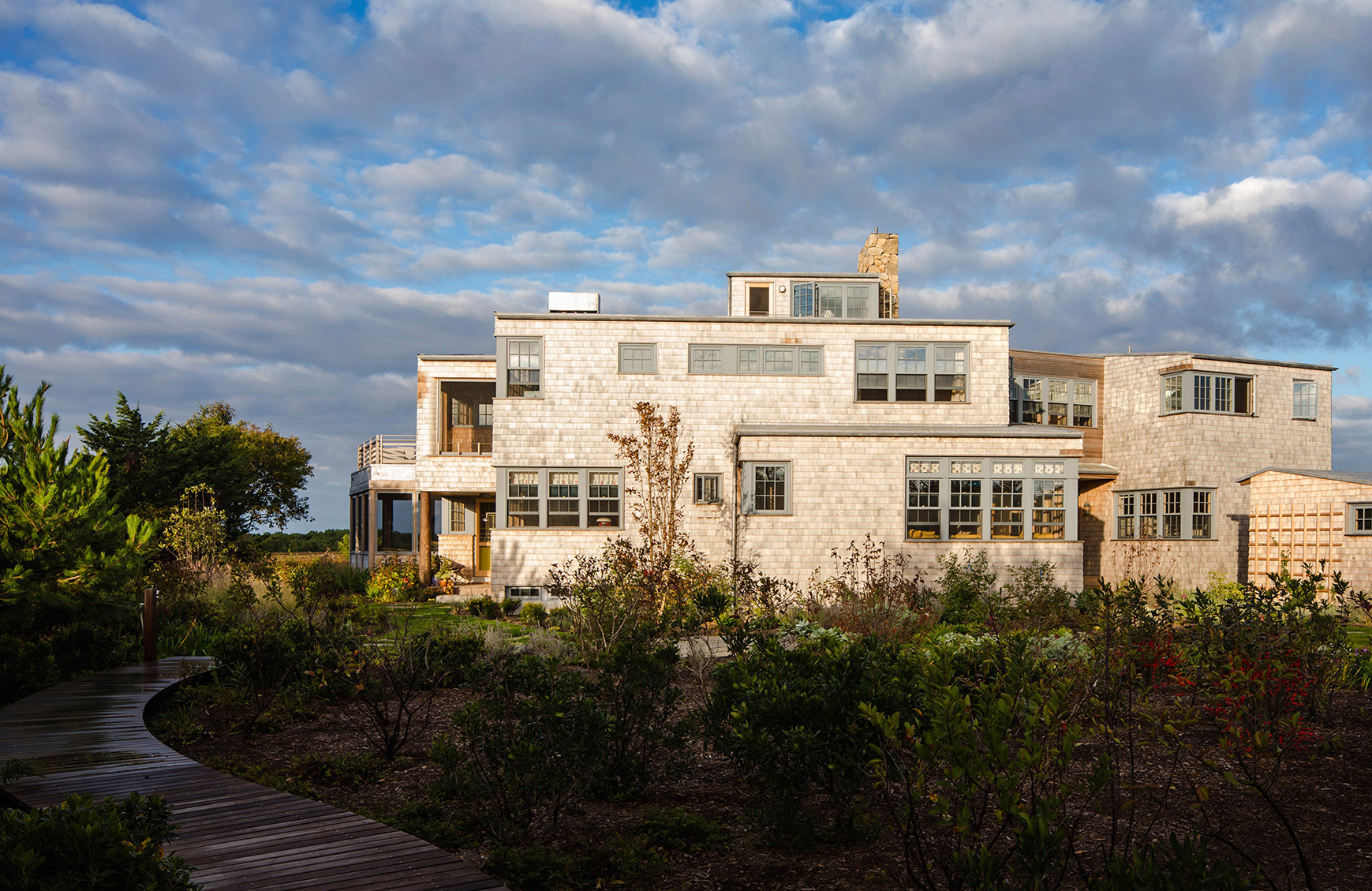 Meadow Beach House, Martha's Vineyard, MA - A modern, high-performance family retreat designed to capture the island views, light, and breezes.