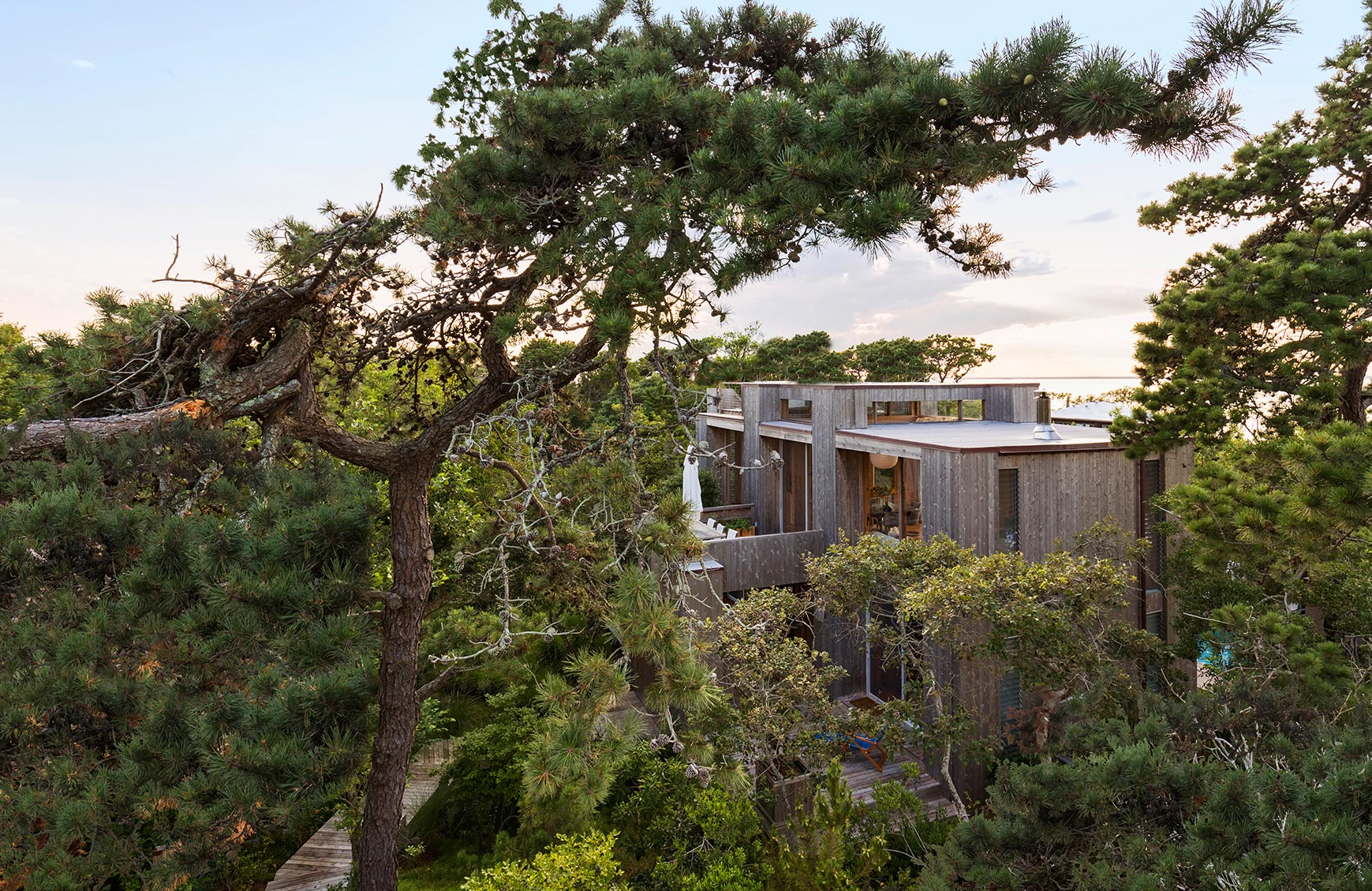 Fire Island House, Long Island, NY - A restoration and renovation of a 1965 house by modern architect Horace Gifford.