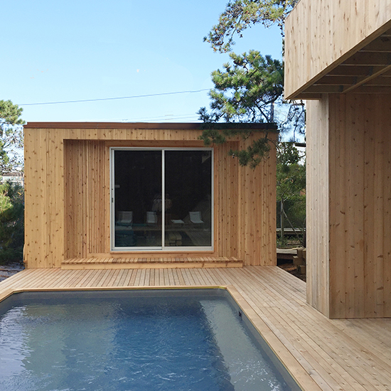 Renovation and restoration of a 1965 Fire Island house by celebrated modern architect Horace Gifford.