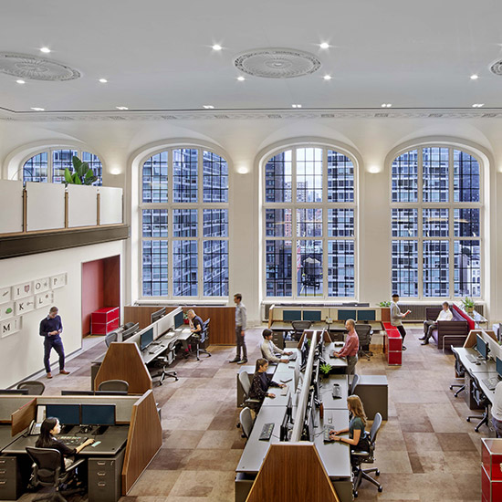 Workplace, Architecture, Interiors, Renovation, Historic Building, NYC