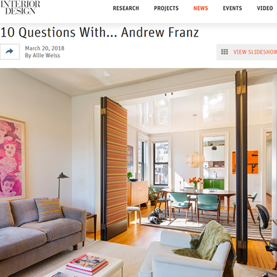 10 Questions With... Andrew Franz