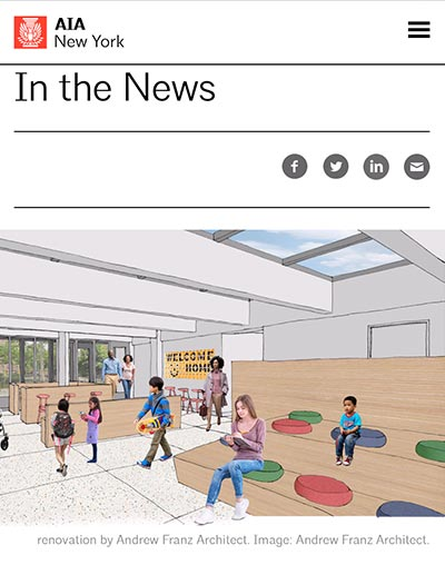 "AIA New York  - ""Andrew Franz to Renovate Union Settlement Community Center"""