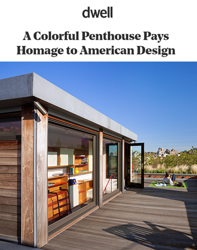 "Dwell - ""A Colorful Penthouse Pays Homage to American Design"""