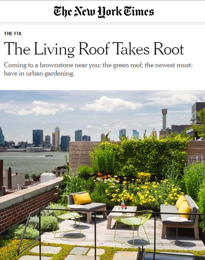 "The New York Times - ""The Living Roof Takes Root"""